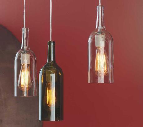 Trend alert dome pendant lamps paperblog for How to make wine bottle lights
