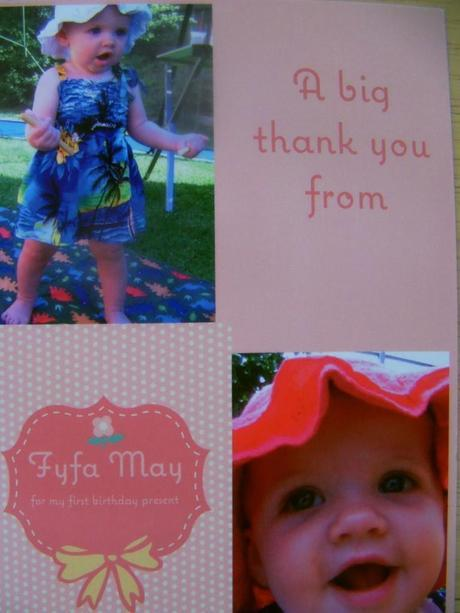 Thank you cards from Paper Shaker