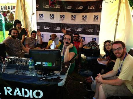 Independent College Radio WUML at the Lowell Folk Festival