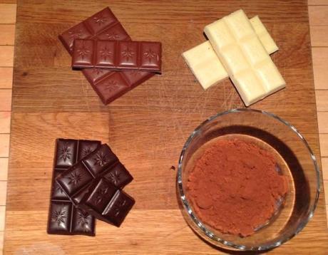 quadruple chocolate cookies recipe milk dark white cocoa powder four kinds