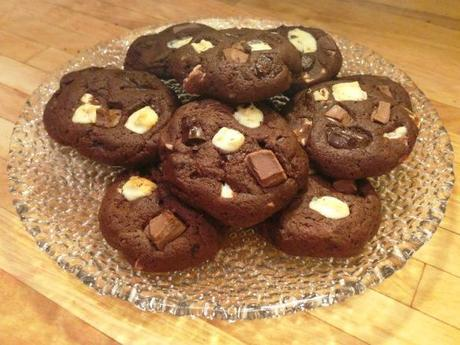 recipe for quadruple chocolate chunk cookies adapted from bero easy no eggs