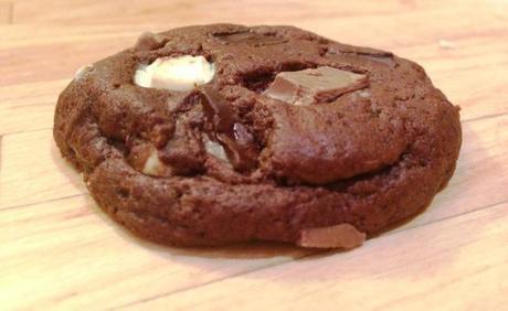 quadruple chocolate individual cookie with triple chunks recipe