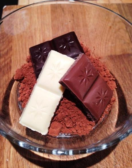 four kinds of chocolate quadruple cookies baking squares recipe