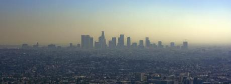 Downtown Los Angeles as an example of a compact city infrastructure. (Credit: Flickr @ Bobby Magee http://www.flickr.com/photos/spacemanbob/)