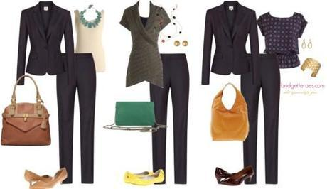 Mix-and-match work outfits