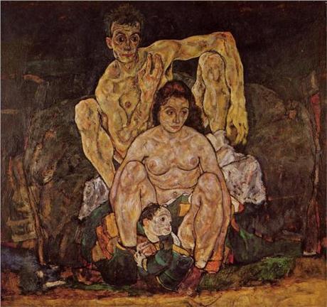 Egon Schiele, The Family, Belvedere Wien