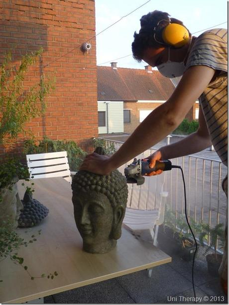 Uni Therapy: DIY Hairy Buddha Bust 2