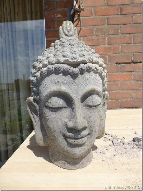 Uni Therapy: DIY Hairy Buddha Bust 3