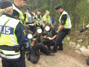 Ongoing Road Blockade Against Mining in Sweden