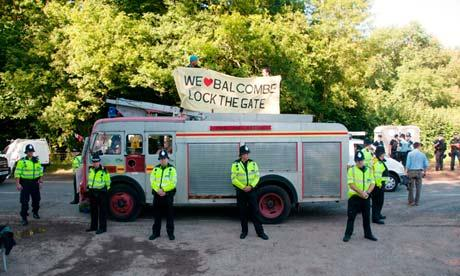 Frack Off protesters at Balcombe