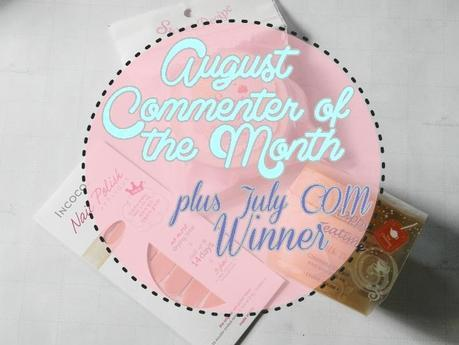 July COM Winner + August COM Prizes