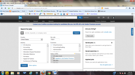 how to create a linkedin profile for job search