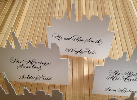 Chicago Skyline Wedding Placecards