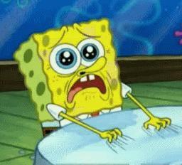 Spongebob upset