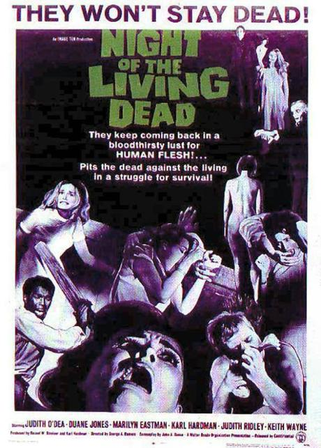 Movie poster from Night of the Living Dead.