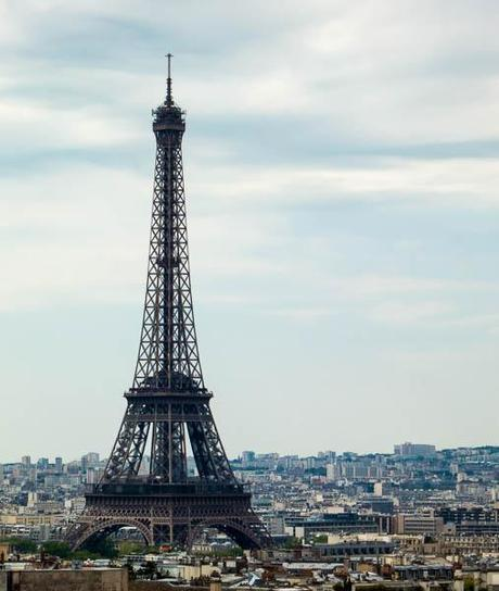 photo of the Eiffel Tower taken from the top of the Arc de Triomphe, Paris, France