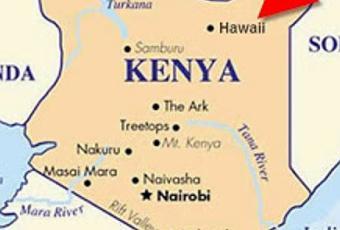 hawaii kenya africa map