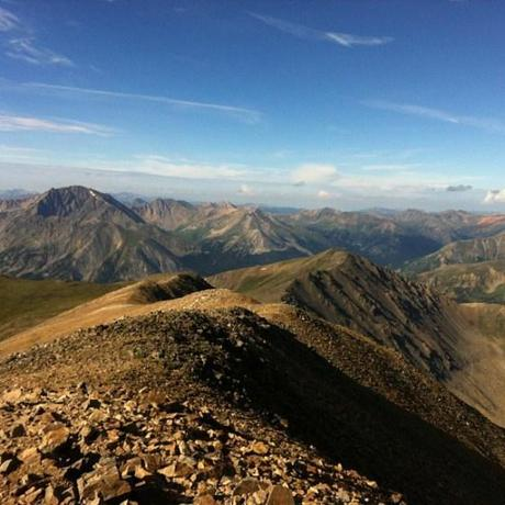 the view from Mt. Elbert 14.433 ft on my 24th birthday.
