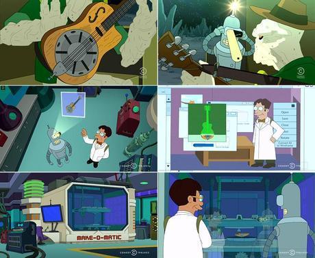 Matt Groening - Futurama - Forty Percent Leadbelly - Guitar - Make-O-Matic 3D Printer