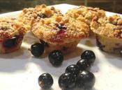 Blackcurrant Crumble Mini Muffins