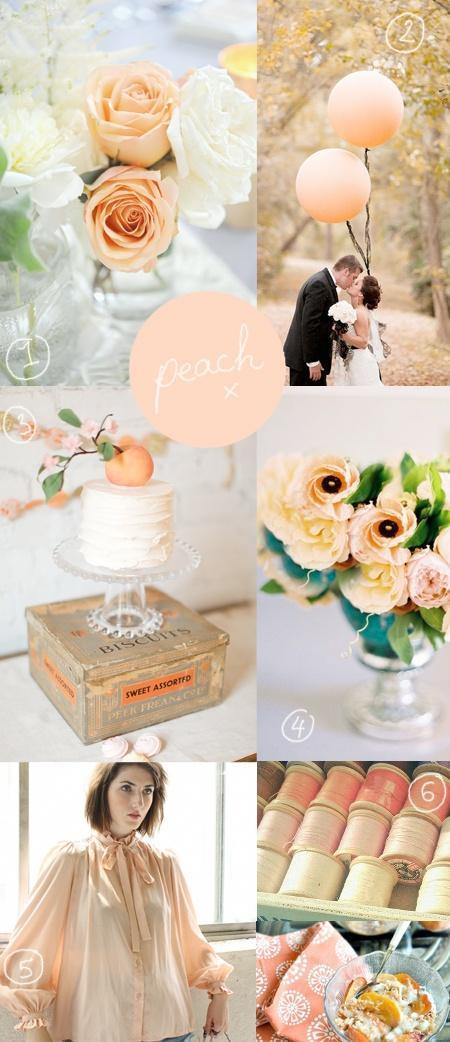 Monday Mood Board - Peach Wedding