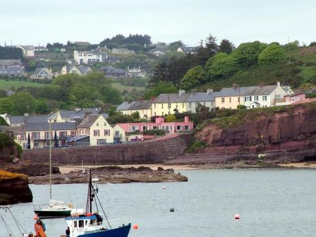 colorful harbor homes at dunmore east in county waterford - ireland
