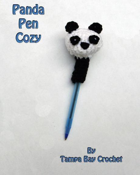 Free Crochet Pattern:  Panda Pen Cozy