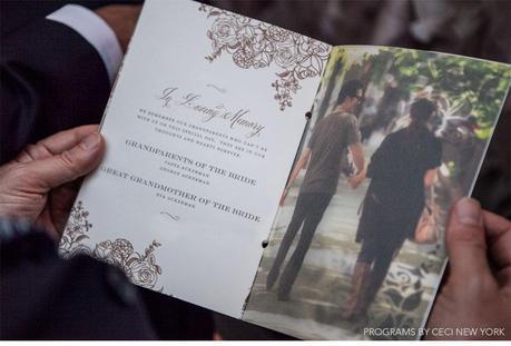 rose_gold_pink_romantic_wedding_roses_invitations_ceci_johnson_v152_om_2f, wedding program, grandparents' tribute, block font combined with script belluccia font, Lettering Art Studio, Debi Sementelli