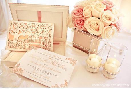 rose_gold_pink_romantic_wedding_roses_invitations_ceci_johnson_v152_om_1g, wedding invitation, block font combined with script belluccia font, Lettering Art Studio, Debi Sementelli