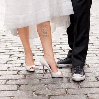 ideas something blue wedding accessories temporary tattooCute and Clever Ideas for your Wedding Day: Something Blue