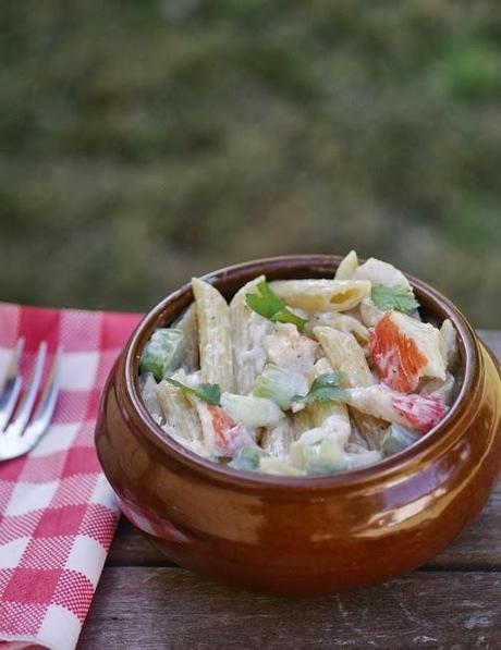 how to make seafood salad with shrimp and crab meat
