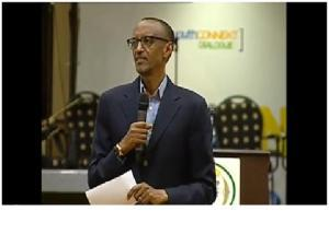 Paul Kagame addressing the Youth Connekt dialog on 30/06/2013 at the Serena Hotel in Kigali where he asked all young Hutu to ask forgiveness to Tutsi for the crimes of their parents. This is occurring after that more than 1.3 million of Gacaca cases have condemned concerned Hutu families to a life of second category citizens, without access to property, education or employment.