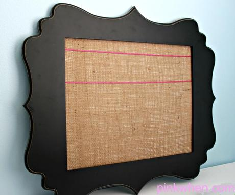 how to make a picture frame into a bulletin board