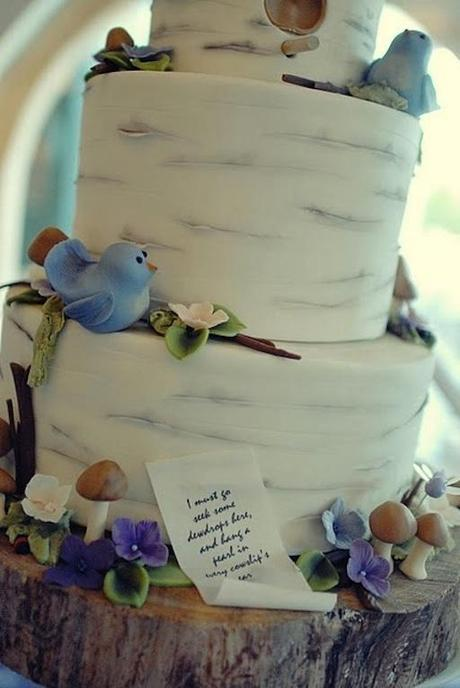Birds on a Tree Wedding Cake