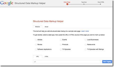 google data markup helper