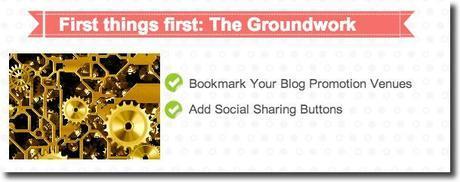 promote blog groundwork