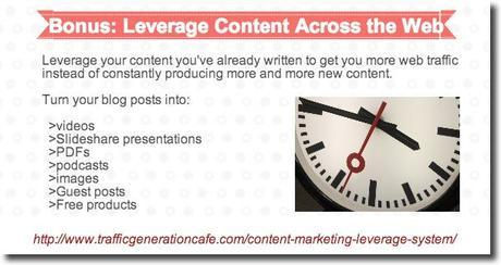 promote blog leverage content
