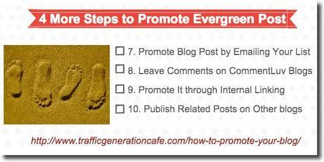 promote your blog evergreen posts