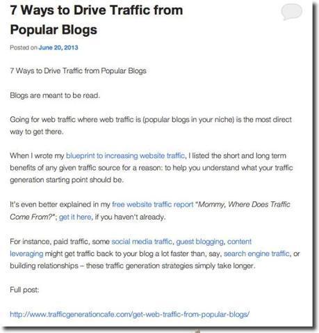 promote post summaries