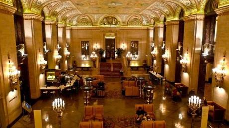 Pictured is the lobby at the Palmer House Hilton hotel in downtown Chicago. The American Legislative Exchange Council reportedly uses a secret