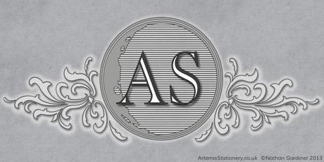 New logo for Artemis Stationery featuring real moon