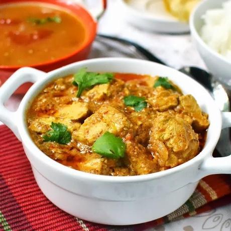 Vegan Andhra Kodi Kura (Vegan Chicken Curry)