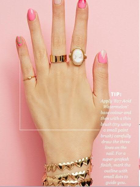 Nail Art With Pink and Blue Nail Paint Shades