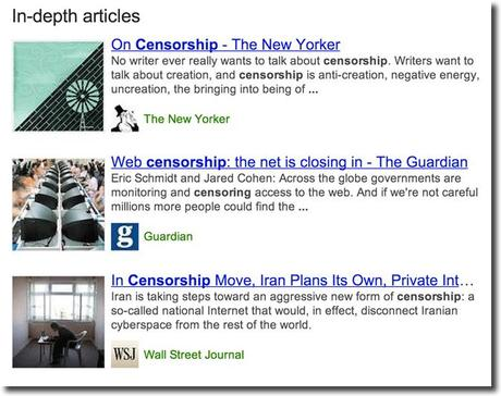 google indepth articles