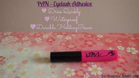 Eyelashes post - Detailed makeup Review (Maybelline- The falsies volume express, Sana- Liquid Liner, Pan - Eyelash Adhesive)