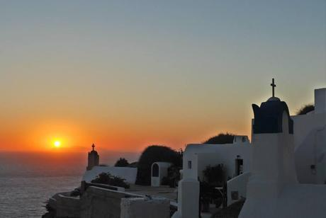 Perfect Sunsets in Santorini