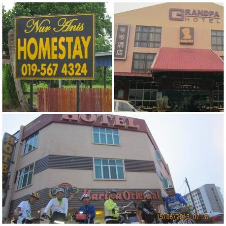 Clockwise from top left: Homestays are a popular budget choice, the 6 grandpas naturally chose Grandpa Hotel, a small business-type hotel