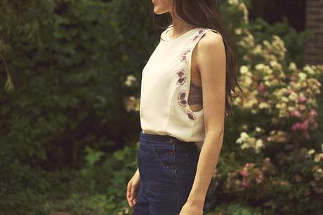 DIY embroidered top