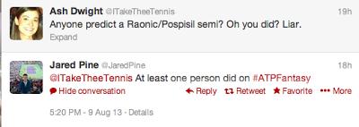 Rogers Cup Men's Semifinal Prediction: Raonic vs. Pospisil