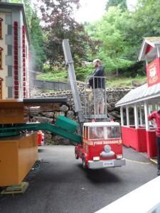 Fire Engine Ride Gulliver's Matlock Bath